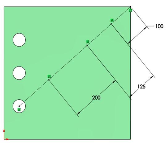Selección de operación a repetir con la herramienta de matriz