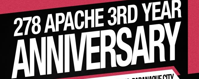 278 Apache 3rd Anniversary