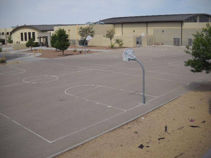 El Paso Independent School District Facilities Hornedo Middle School Outdoor Basketball Courts