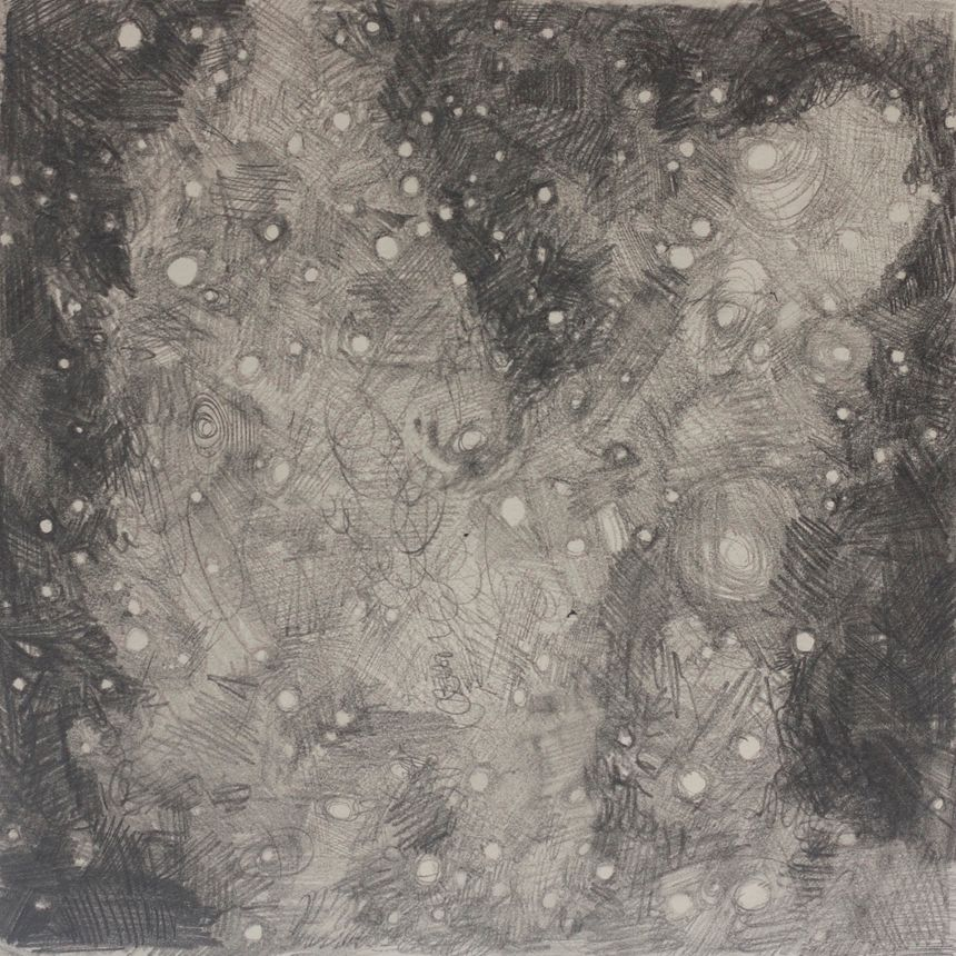 image: pillars of creation - 2015 - graphite on rising museum board