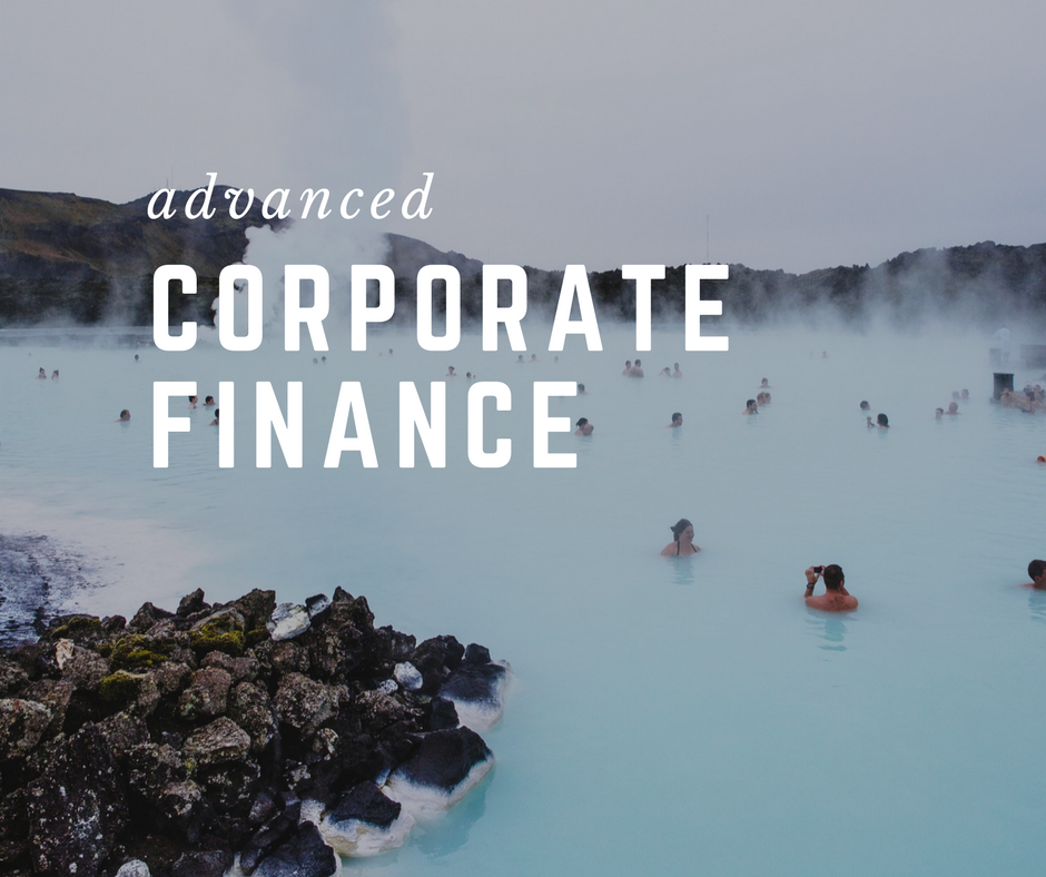 syllabus advanced corporate finance spring Fin 3603 - advanced corporate finance description prerequisite: student must be approved for degree candidacy by price college and fin 3303  fall 2018, spring.