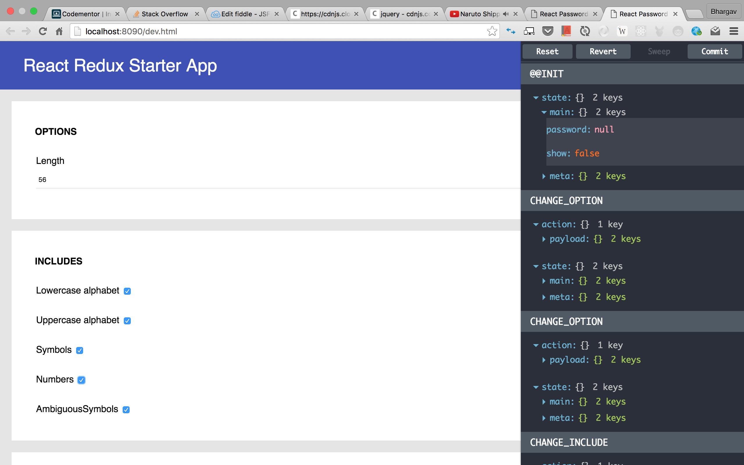 React + Redux starter app