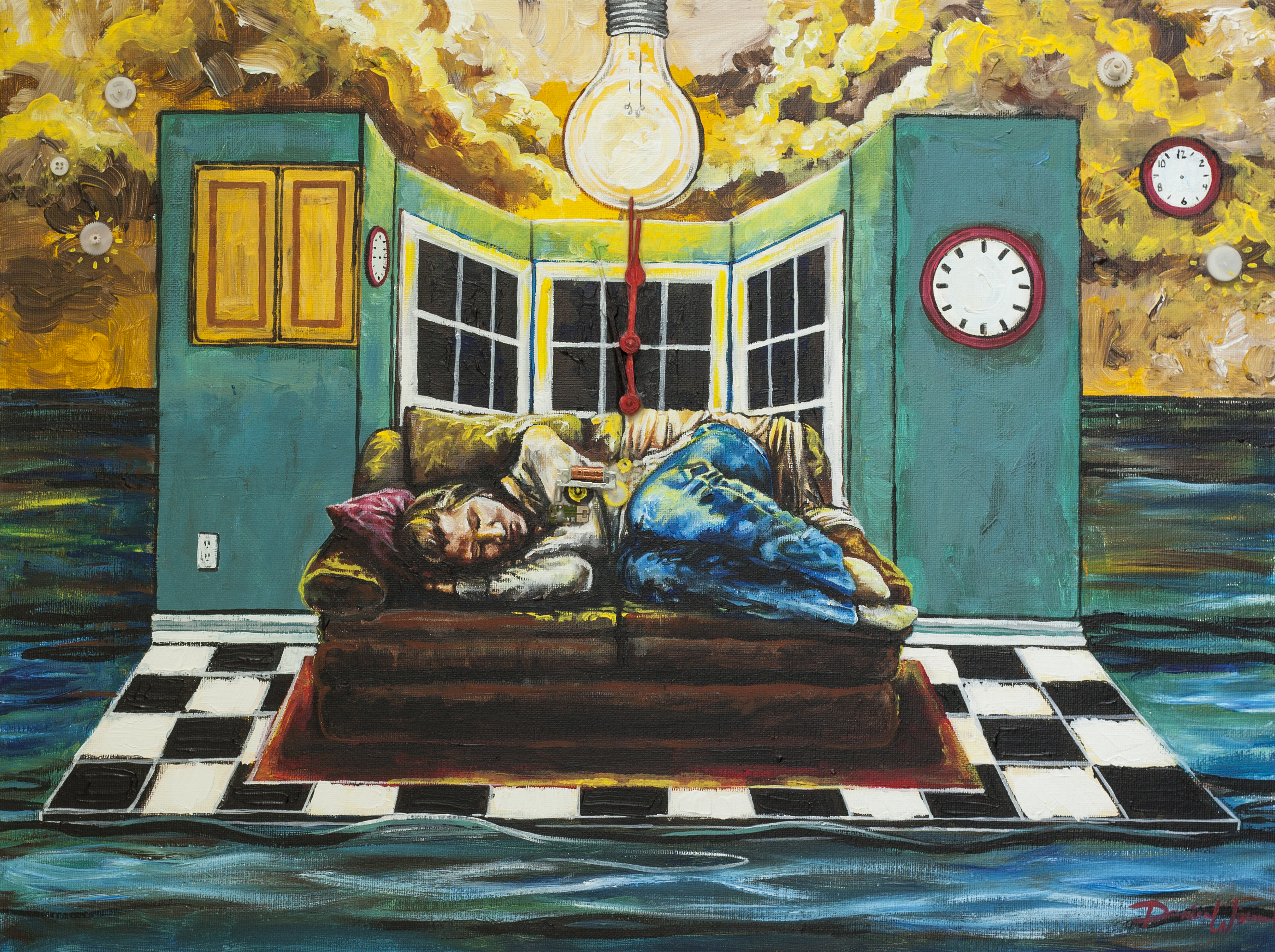 Clocks, grief art, Danica Thurber