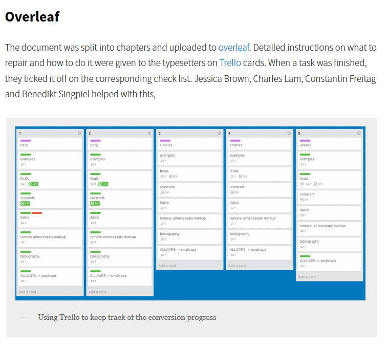 Lang Sci Press blog Overleaf Trello