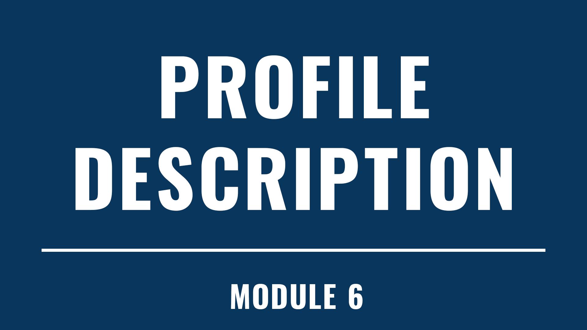 Profile Description