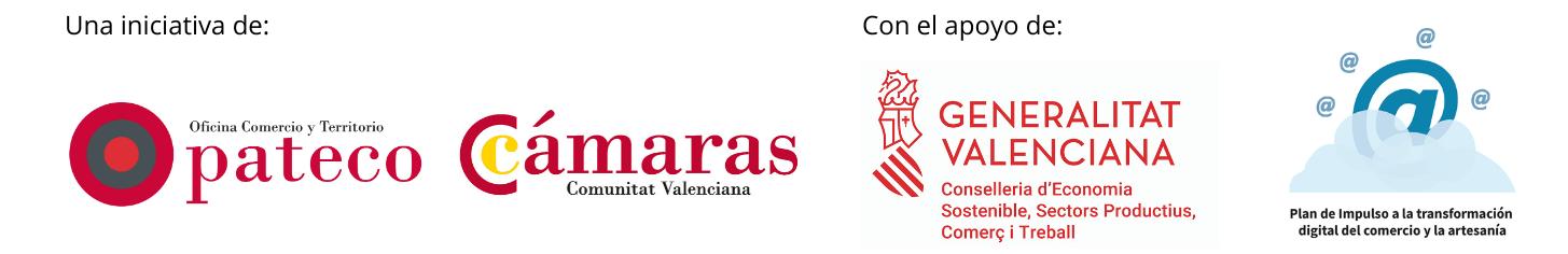 Logos de los organismos impulsores del plan de formación acelerado en ecommerce