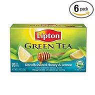 Green Tea Decaffeinated Honey & Lemon from Lipton