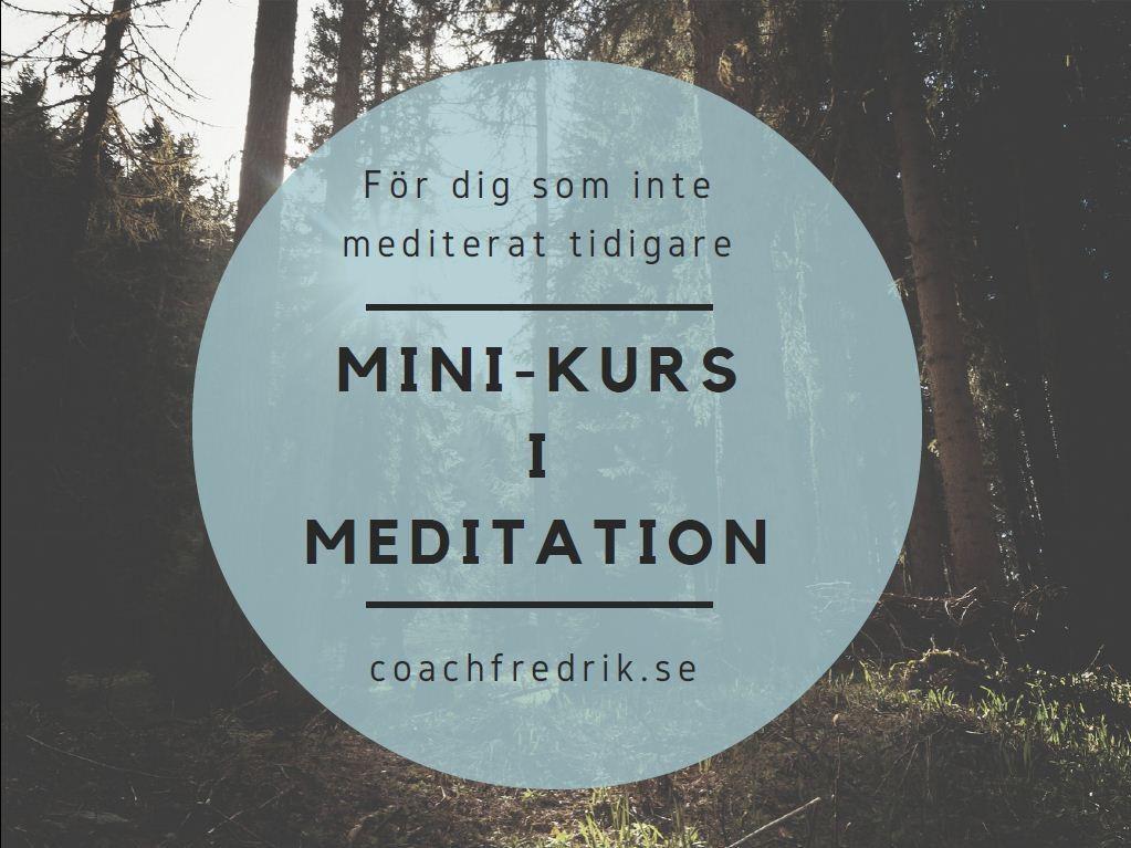 Mini-kurs i mindfulness meditation