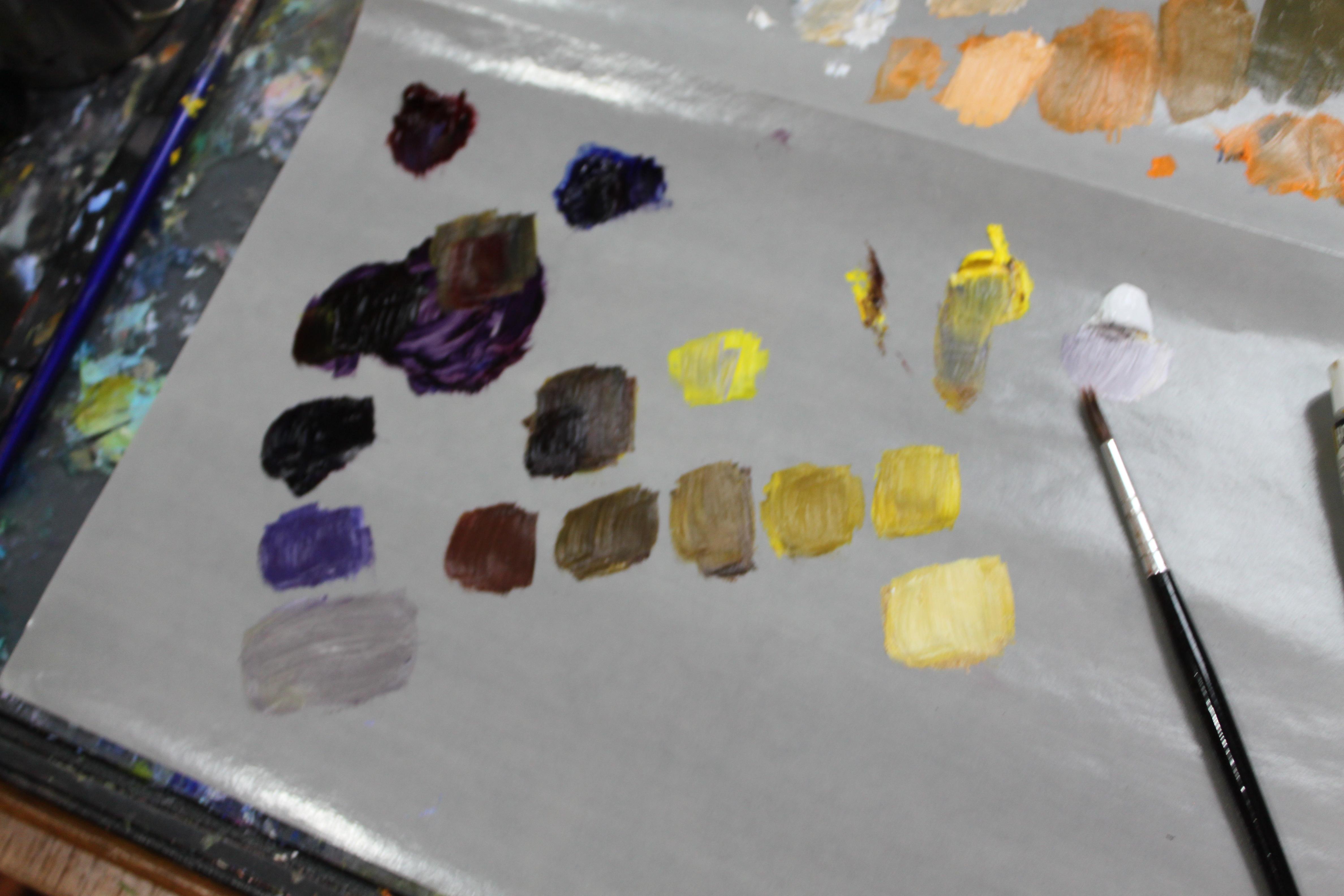 Color Palette oil paint