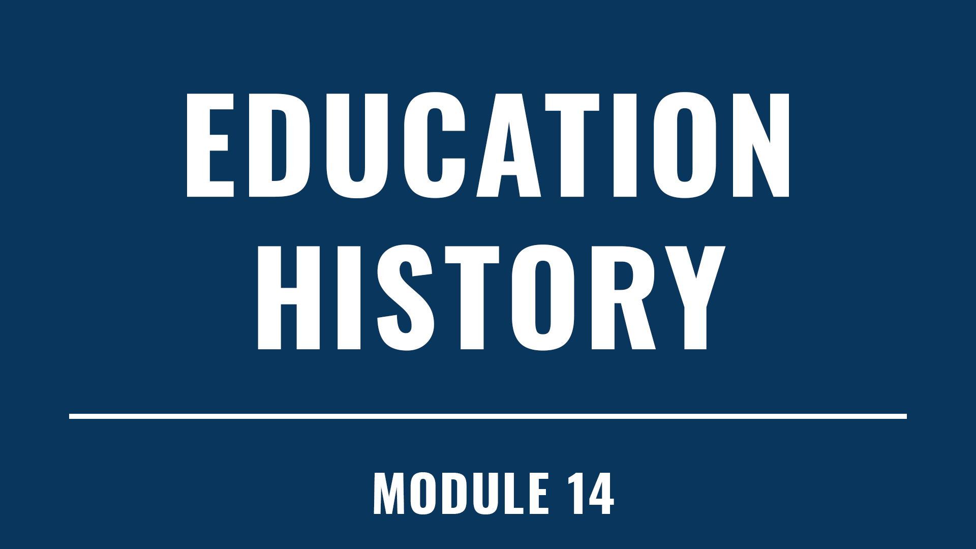 Education History