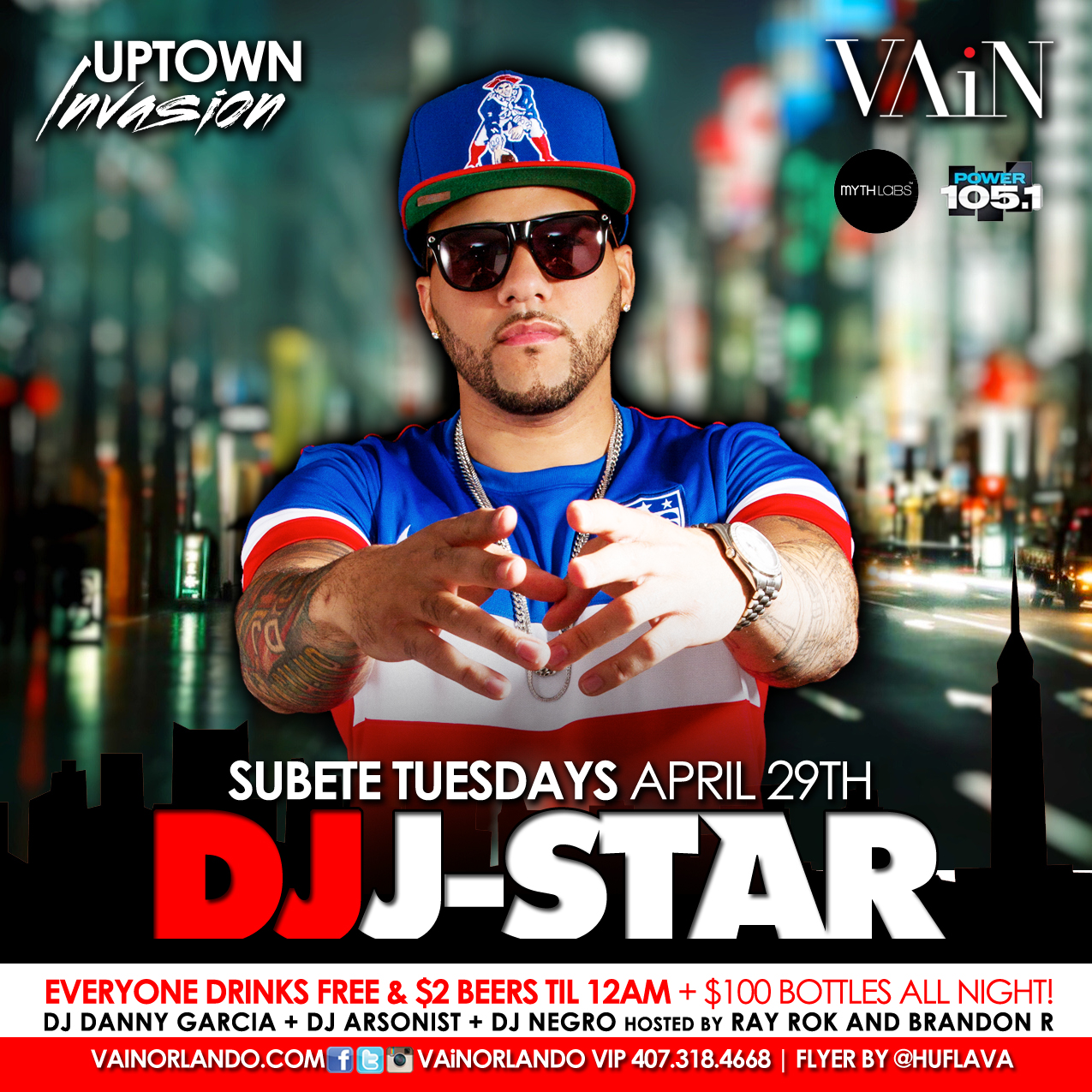 Uptown Invasion w/ DJ J-Star | Subete Tuesdays