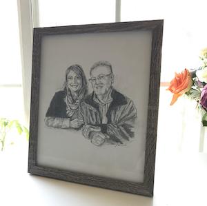Memorial pencil portrait