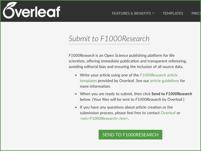 Direct submissions from Overleaf
