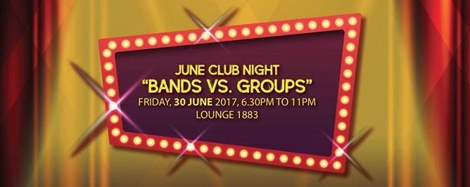 June Club Night - Bands vs Groups