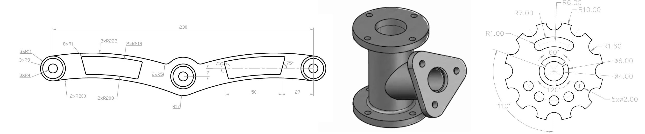 AutoCAD 2D and 3D practice drawings   SourceCAD