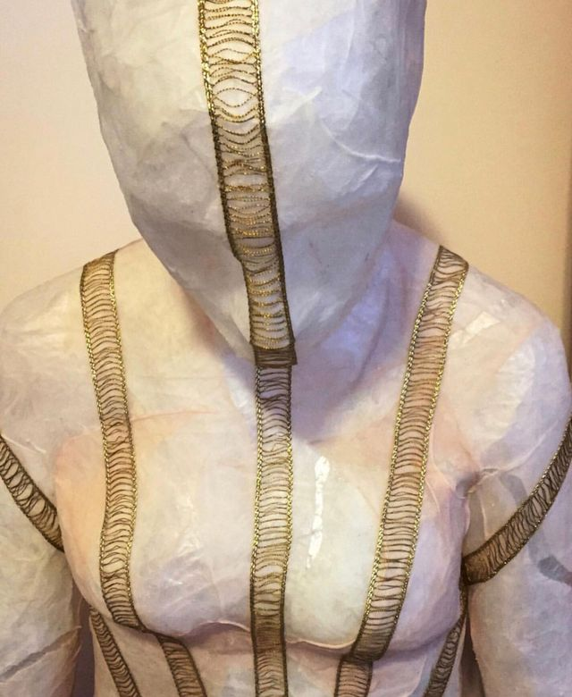 image: Detail of life cast sculpture for previous installations