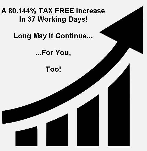 80.144% TAX FREE Increase In 37 Working Days!