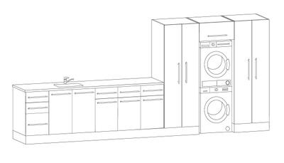 Vaskeromsinnredning, Forslag kombinasjon 426 cm