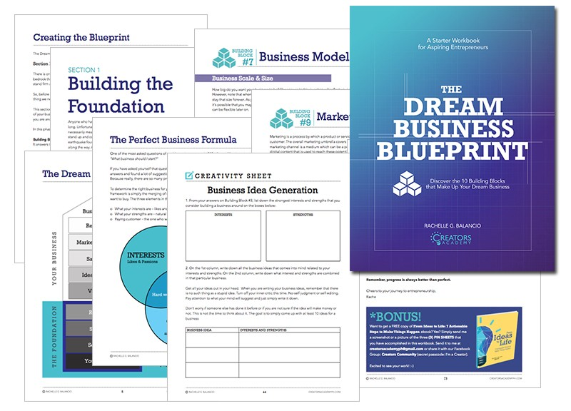 The dream business blueprint workbook creators academy the e learning version via teachable malvernweather Gallery