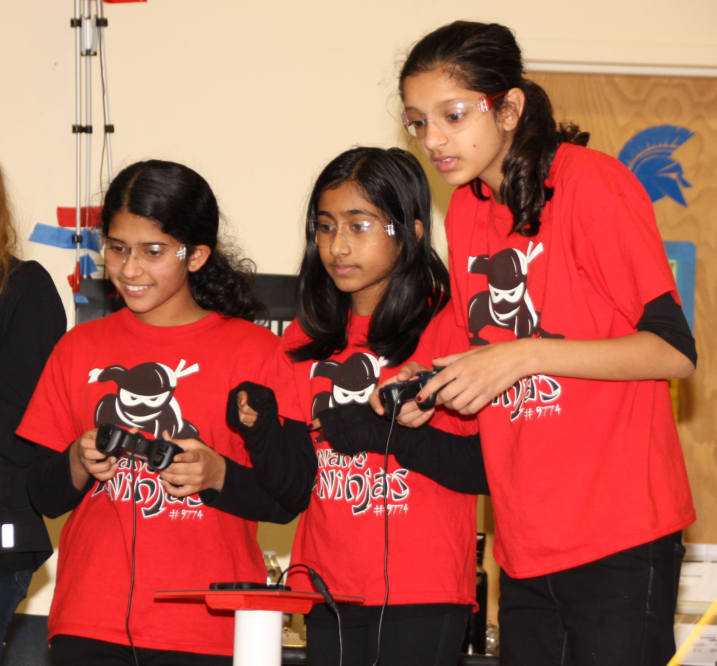 The Nano Ninjas team concentrating during one of the heats