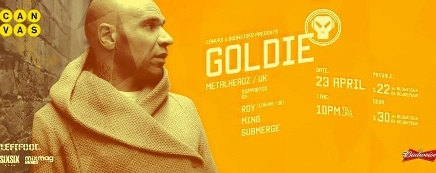 Canvas & Budweiser presents Goldie (Metalheadz, UK)