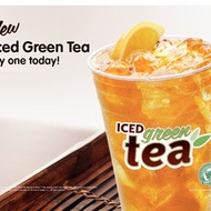 Iced Green Tea from Dunkin Donuts