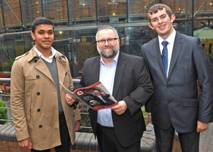 Brightson Xaviour Kalavilasam, John Wright and Joseph Fitch of Central College Nottingham