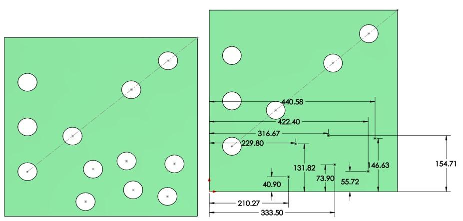 Creación de nuevo croquis para dale simetría a la operación en SOLIDWORKS