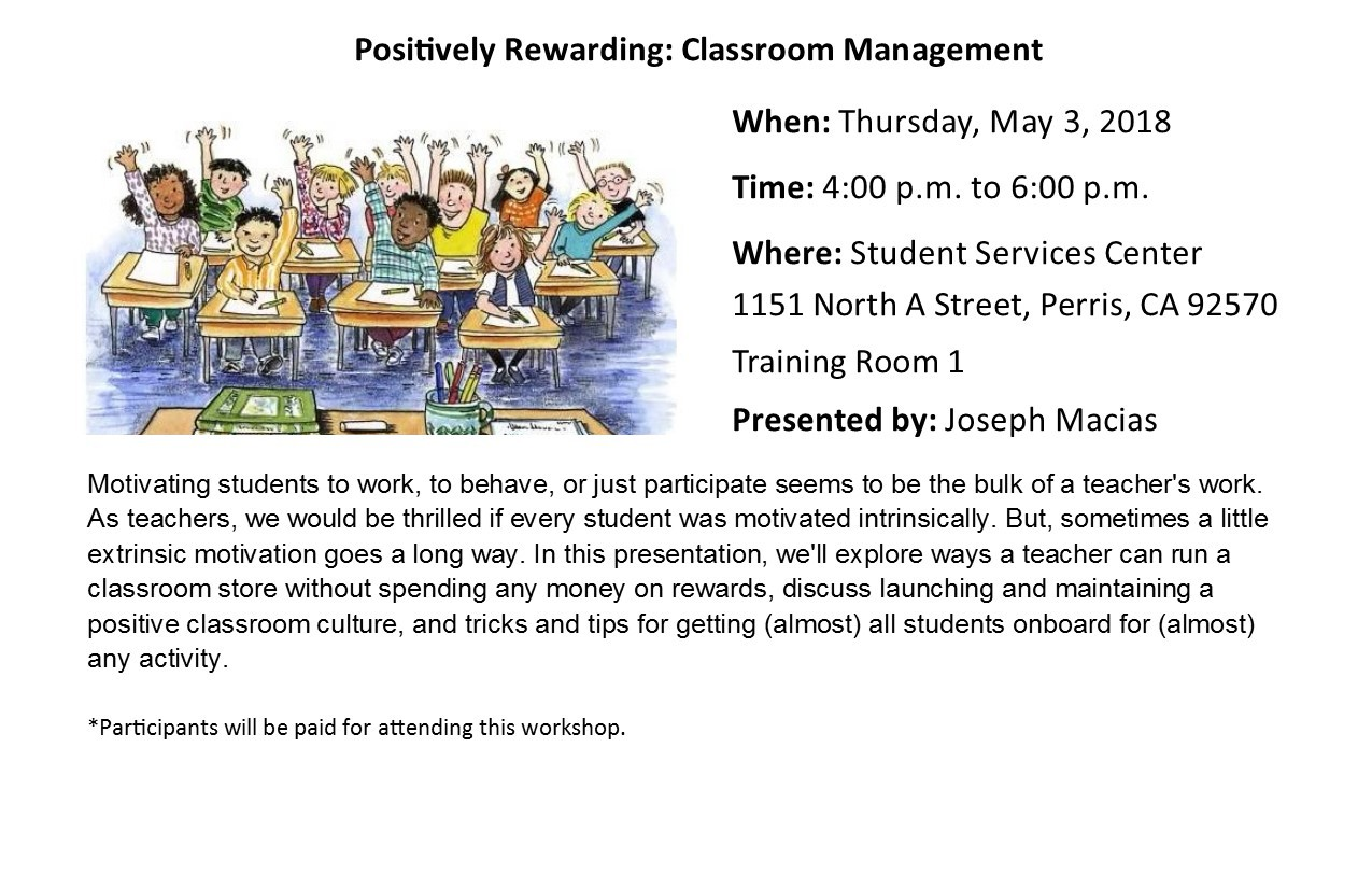 In this presentation, we'll explore ways a teacher can run a classroom store without spending any money on rewards, discuss launching and maintaining a positive classroom culture, and tricks/tips for getting (almost) all students onboard for (almost) any activity.