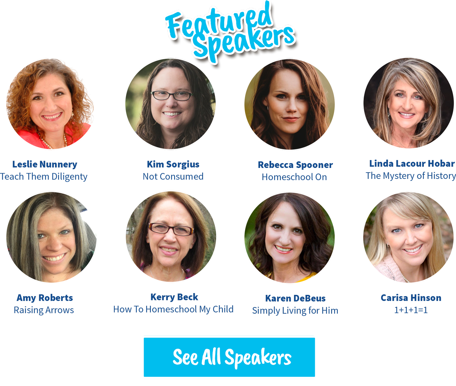 Meet the Back2Homeschool Speakers