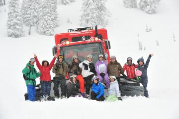 Camper cat skiing group - what a day!!