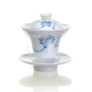 Blue and white porcelain multifunctional lotus gaiwan from Teavivre