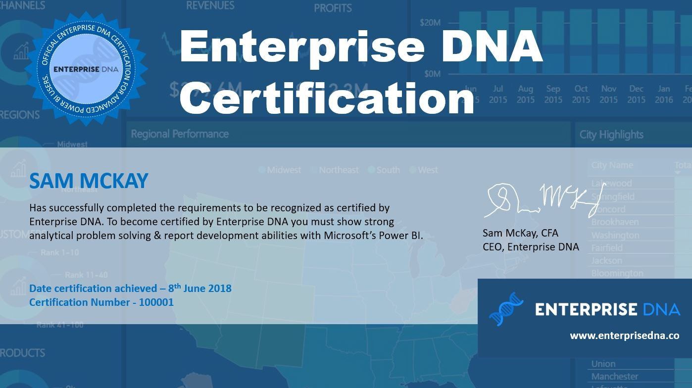 Enterprise Dna Certification Power Bi Enterprise Dna Online