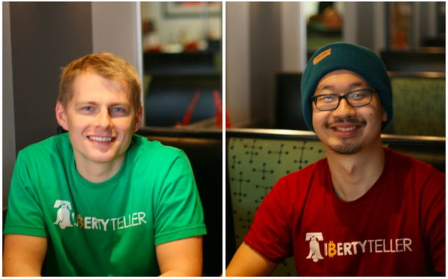 image: Kyle Powers & Chris Yim, founders of Liberty Teller, are members of BitcoinPHL