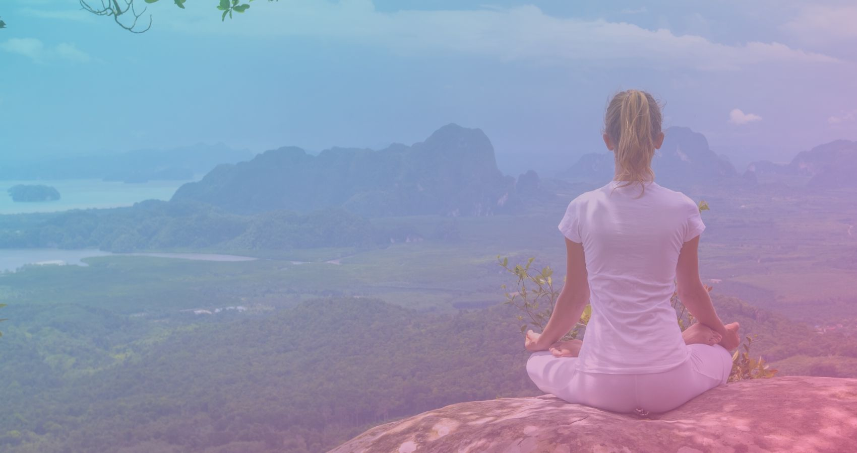 A women engaged in meditation as part of the Journey to Calm Meditation Course for Women