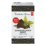 Black tea with chocolate mint flavor from President's Choice