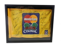 2002 Mastercard Colonial Pin Flag Autographed by Former Champions.