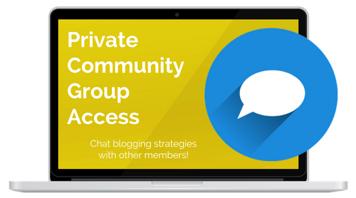 create and go private support group for six-figure blogger