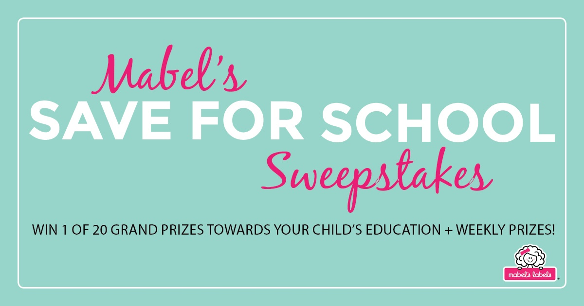 Win 1 of 20 Prizes of $500 from Mabels Lables