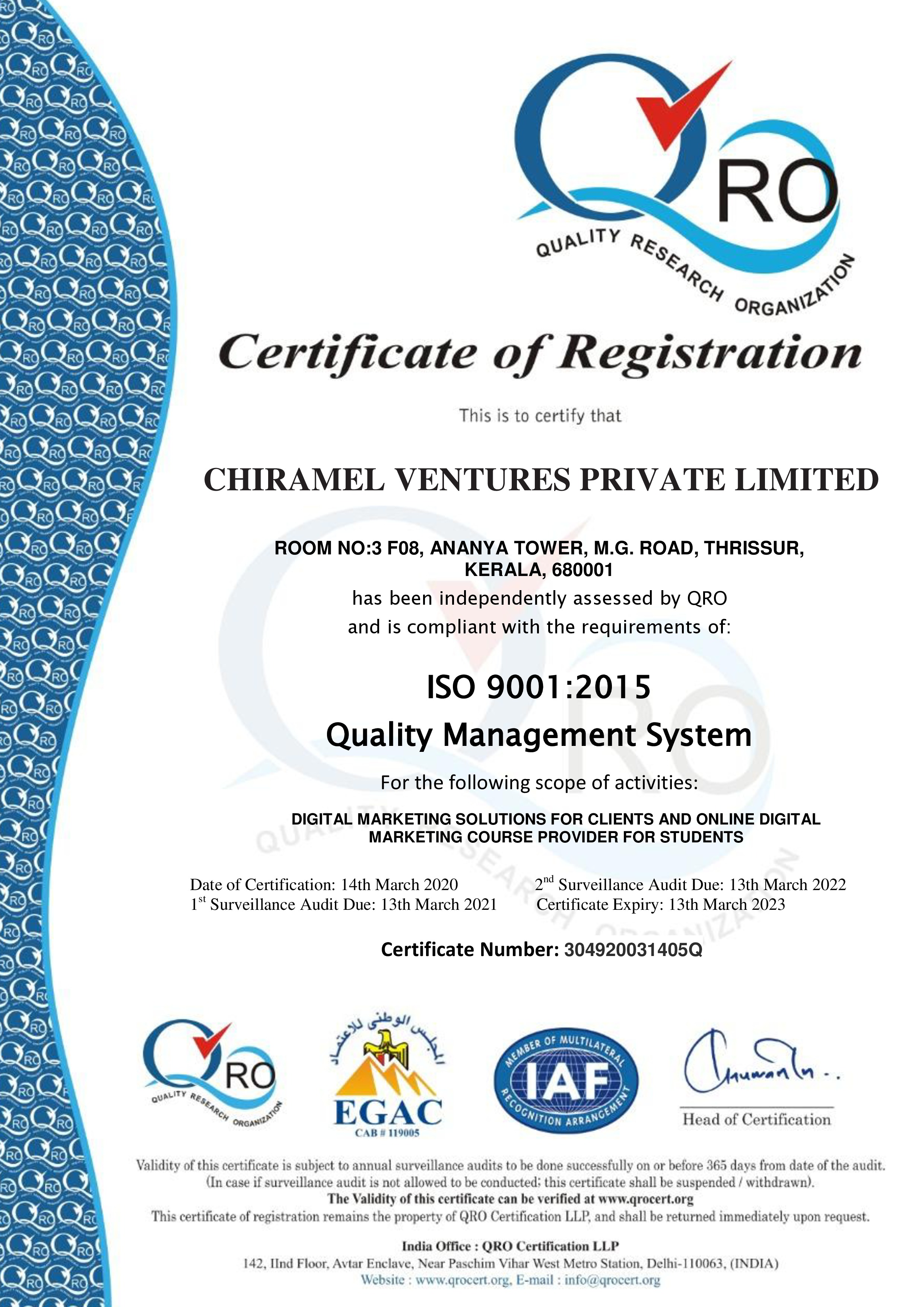 Chiramel Ventures
