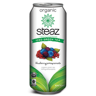 Iced Green Tea: Blueberry Pomegranate from Steaz