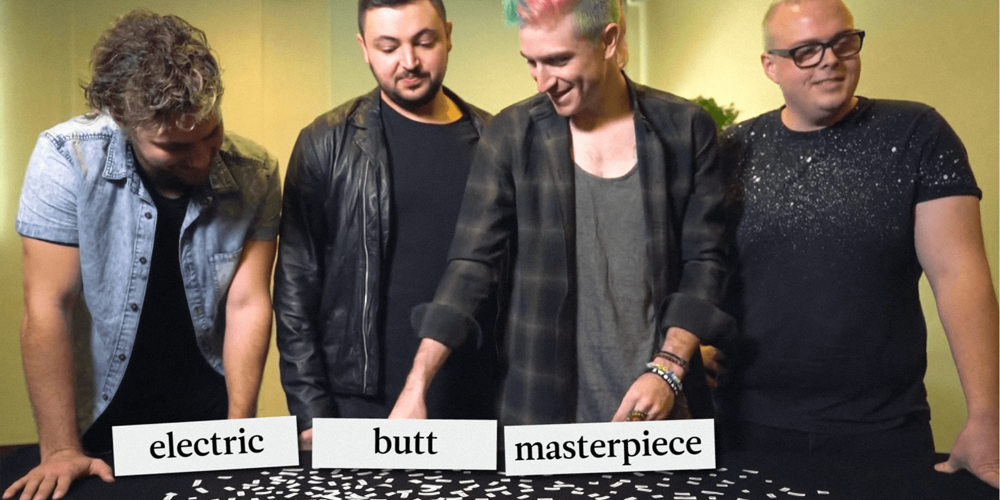 WATCH: Walk The Moon tackle our interview questions with flashcards