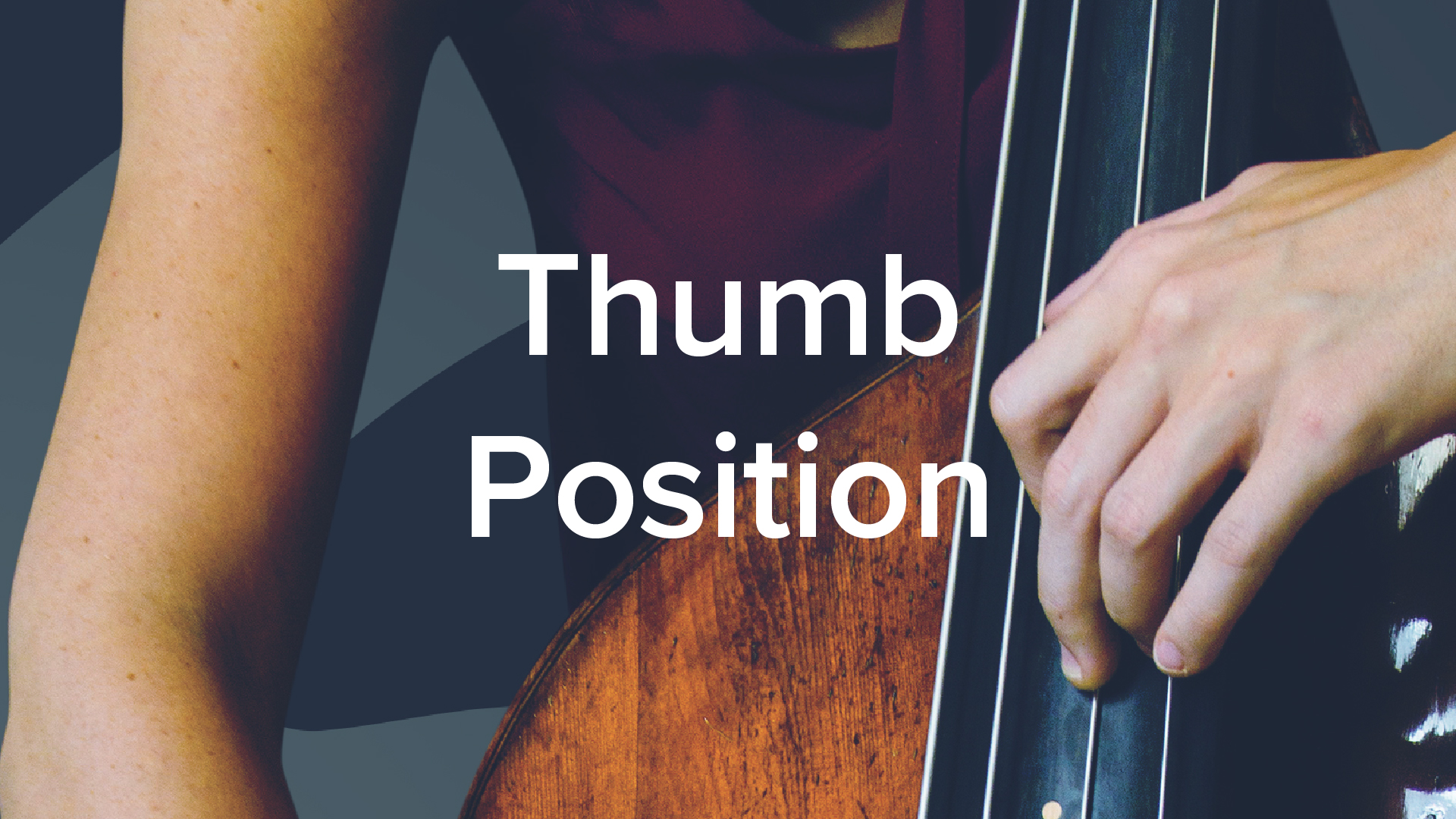 Double bass thumb position, nude girl at football game