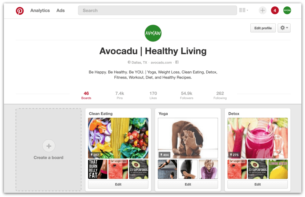beginner blogger Pinterest account for Avocadu