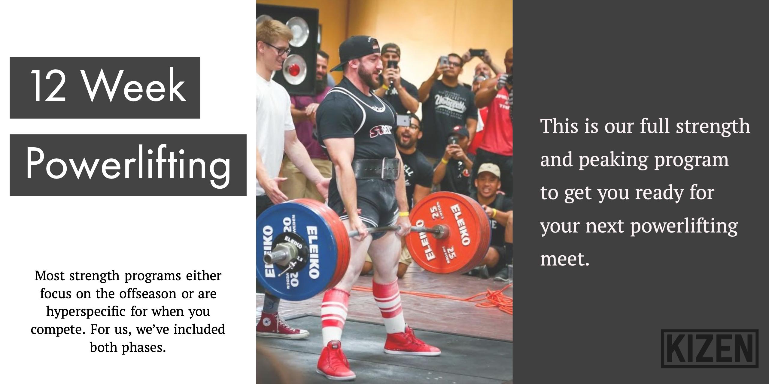 Powerlifting Program | Kizen Training