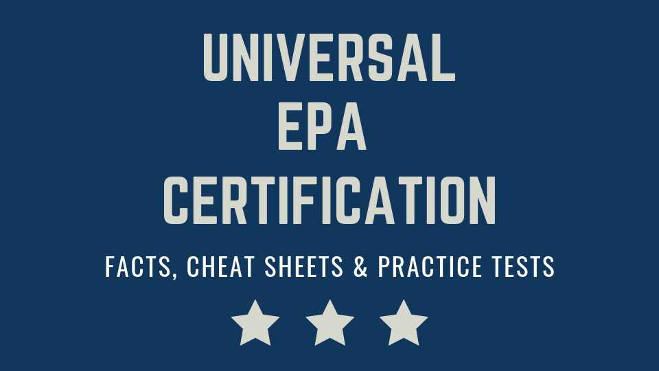 Epa 608 Universal Certification Test Prep Trade Masters Online