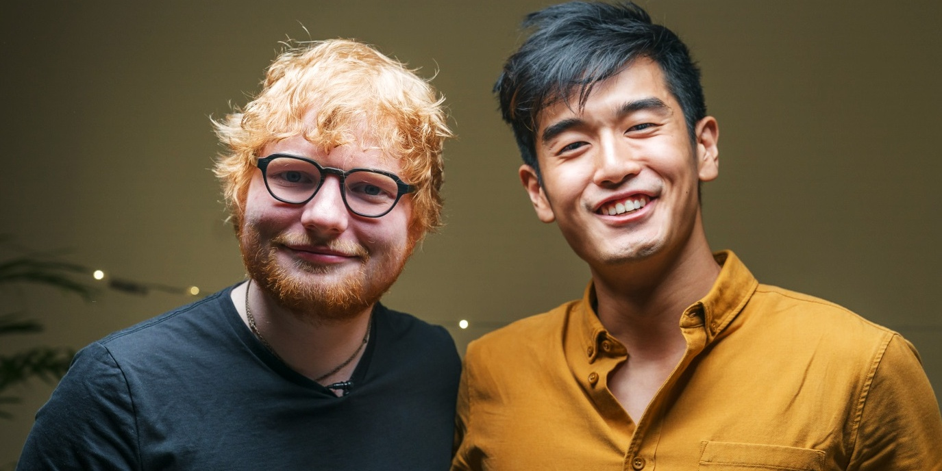 "Ed Sheeran tackles a ""Game of Divide"" with Nathan Hartono — watch"