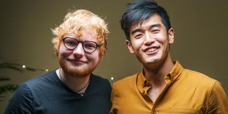 """Ed Sheeran tackles a """"Game of Divide"""" with Nathan Hartono — watch"""