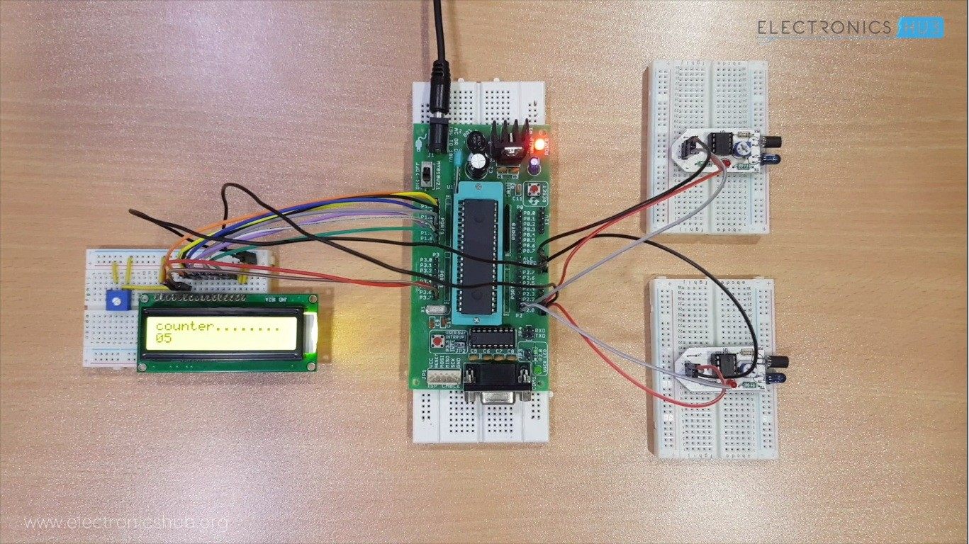 Bidirectional Visitor Counter Using 8051 Electronics Hub Courses Microcontroller Reset Circuit About This Course It Is Designed For Anyone Who Are Interested In Developing Based Projects Will Introduce The Hardware And