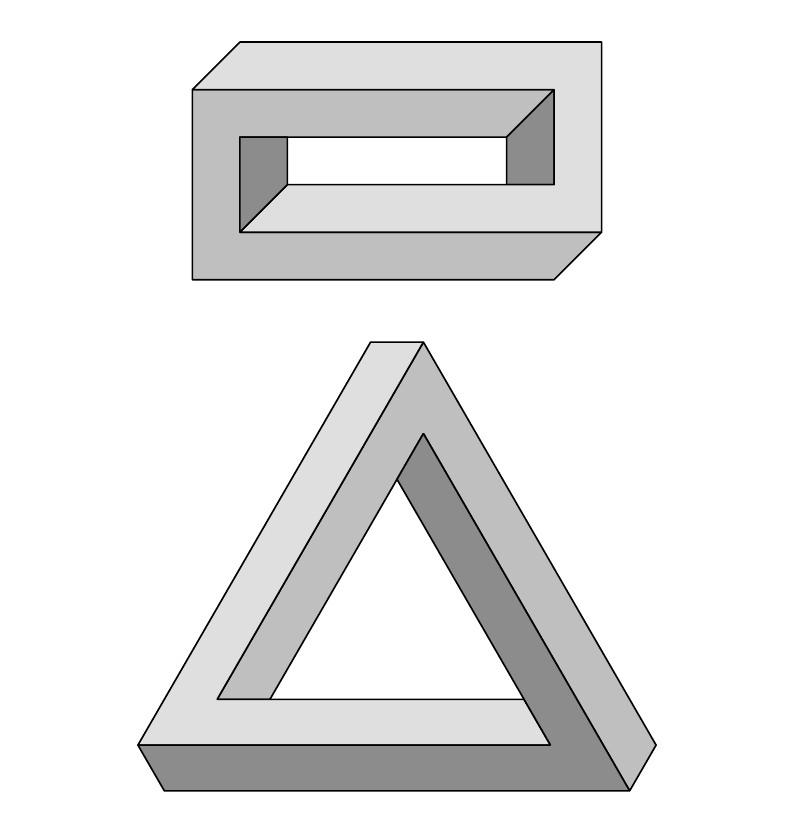 Escher Illusions in LaTeX example